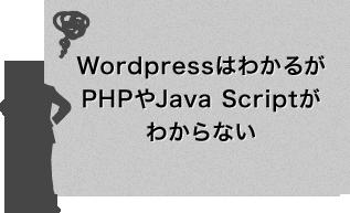 WordpressはわかるがPHPやJava Scriptがわからない